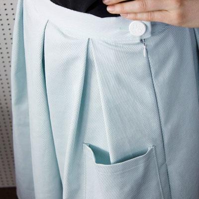 Rock Lilli: Optional sind aufgesetzte Taschen