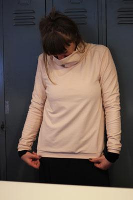 Sweatshirt Nähkurs Teilnehmerin