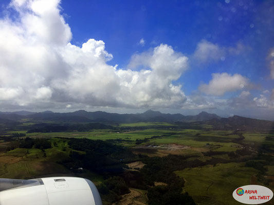 Anflug auf Mauritius