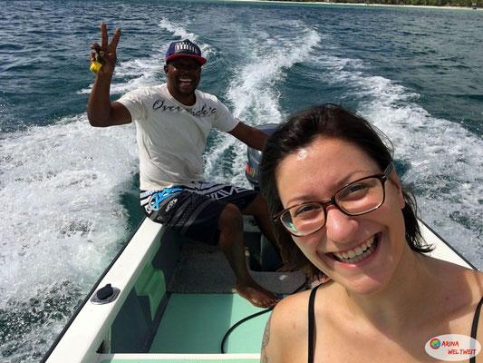 Bootsfahrt mit Ronny