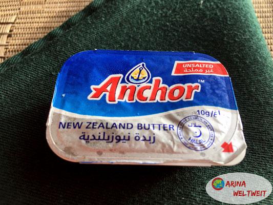 neuseeländische Butter auf den Seychellen