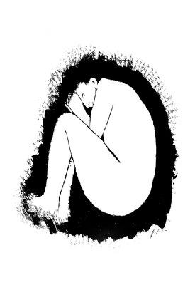 GedankenRäume - Wiedergeburt II, 100 x 70 cm, 2020