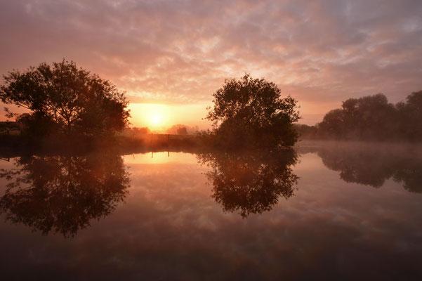 Sonnenaufgang an der Lippe, Nordrhein-Westfalen / ch177406