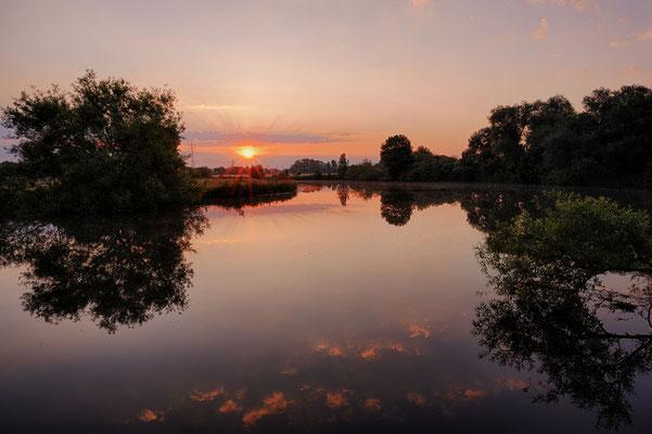 Sonnenaufgang an der Lippe, Nordrhein-Westfalen / chhd0022