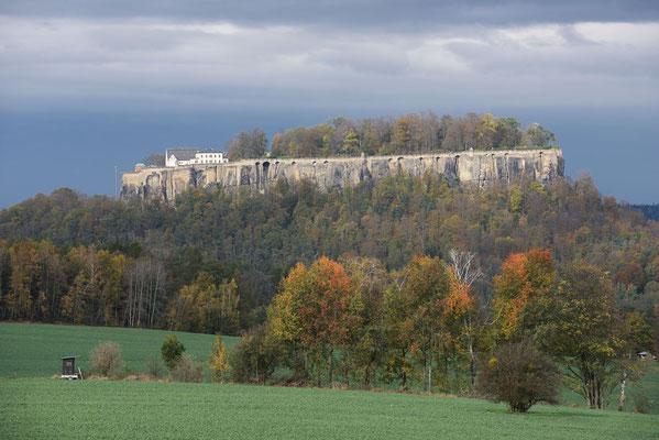 Tafelberg Königstein mit Festung, Sächsische Schweiz, Sachsen / ch193674