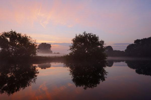 Sonnenaufgang an der Lippe, Nordrhein-Westfalen / ch177496
