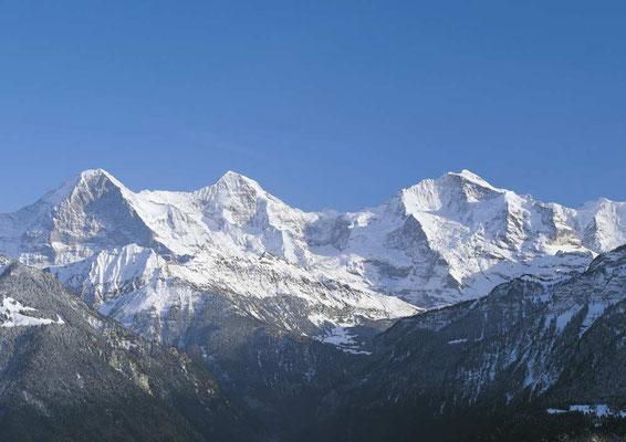 Weitwandern ohne Gepäck auf der Via Alpina Bärentrek-Hintere Gasse Berner Oberland: Eiger, Mönch und Jungfrau