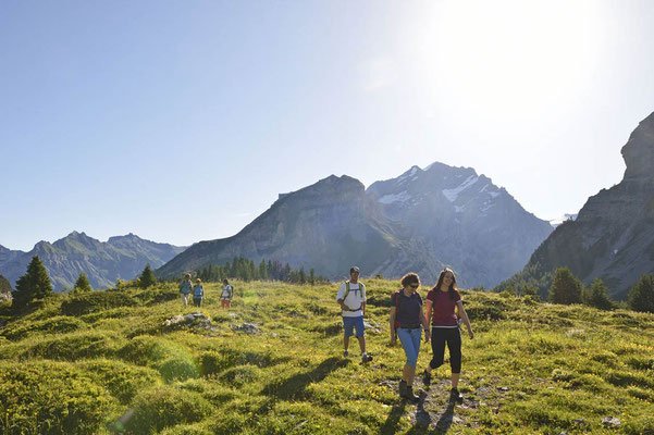 Weitwandern ohne Gepäck im Berner Oberland Bärentrek-Hinteregasse: Meiringen-Adelboden