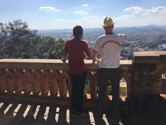 Am letzten Tag konnten wir noch einmal die Aussicht über die Hauptstadt vom Präsidentenpalast aus genießen