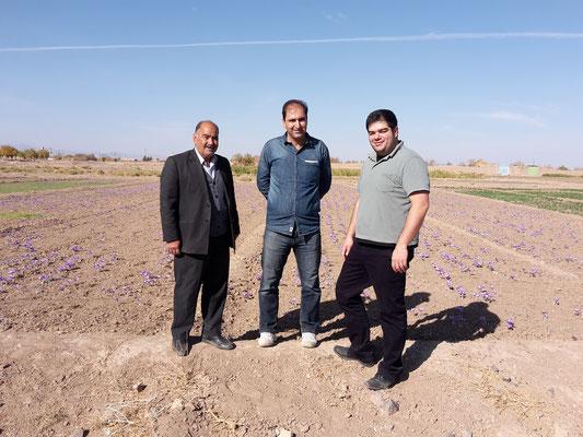 Amin mit unseren Safranbauern in Khorasan