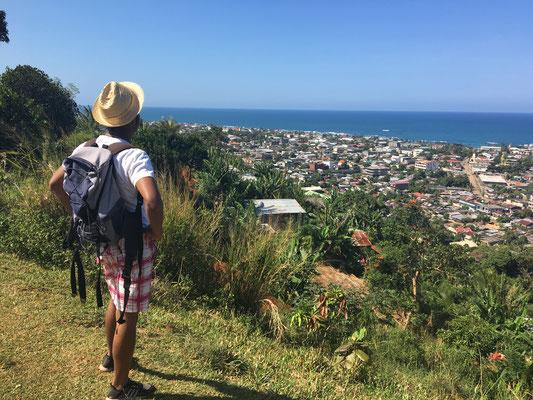 Blick über Antalaha, die schönste Stadt der SAVA-Region