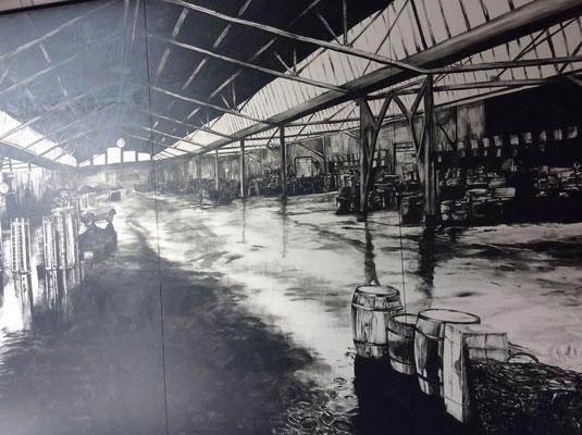 Der alte Fischbahnhof - Ausstellungshighlight grafische Wandgestaltung