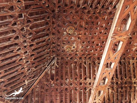 Artesonado mudéjar de la nave mayor de la iglesia