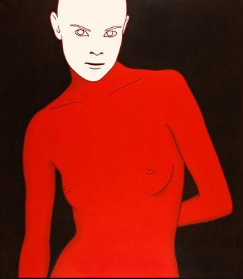 """trans figures: """"Zielperson 5""""   Öl auf Baumwolle mit Acryl und Kohle   160 cm x 140 cm   2005"""