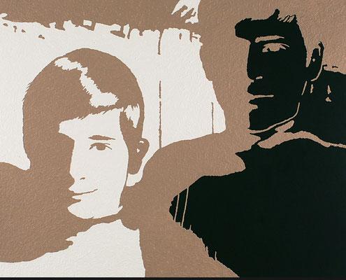 """""""absence 19 (Familie)""""  Öl/Acryl auf Baumwolle   80 cm x 100 cm  2012"""