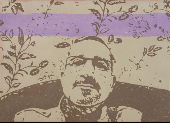 """absence 44 (Familie)""  Öl auf Baumwolle  50 cm x 70 cm  2016"