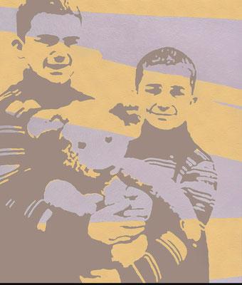 """absence 31 (Familie)""   Öl auf Baumwolle  140 cm x 120 cm  2014/15"