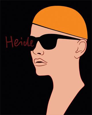 """trans figures: """"Heide""""   Öl auf Baumwolle mit Acryl und Kohle   100 cm x 80 cm   2010"""
