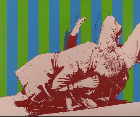 """absence 52 (Violence)"" Öl auf Baumwolle 100 cm x 120 cm 2018"