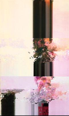 "absence 83 (Selfie)""  Latexprint/Öl auf Leinwand    150 cm x 90 cm  2021"
