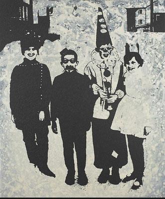 """""""absence 24 (Familie)"""" Öl/Acryl auf Baumwolle  120 cm x 100 cm  2013"""