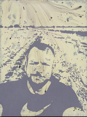 """absence 37 (Selfie)""  Öl/Acryl auf Baumwolle  80 cm x 60 cm  2015"