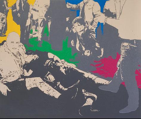 """absence 56 (Violence)"" Öl auf Baumwolle 110 cm x 130 cm 2018"