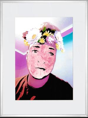 """""""Za 25""""     C-Print/Cut Out/Acryl auf coloriertem Karton     29,7 cm x 21 cm     im Alurahmen     40 cm x 30 cm     2016"""