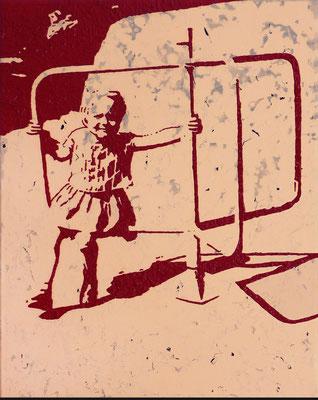 """""""absence 26"""" (Familie)  Öl/Acryl auf Baumwolle  50 cm x 40 cm  2013"""