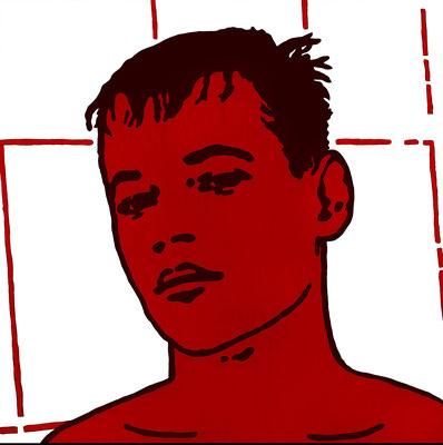 """""""Alexander"""" Öl auf Baumwolle 80 cm x 80 cm 2007"""