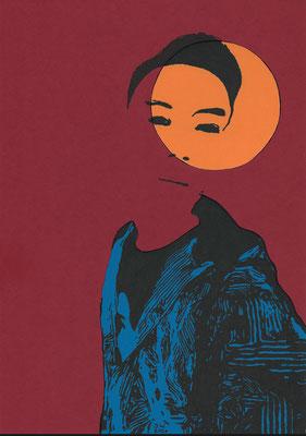 """O.T."" Filzstift auf farbigem Karton 29,7 cm x 21 cm 2020"