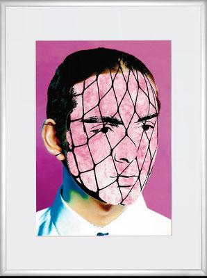 """""""Za 24""""     C-Print/Cut Out/Acryl auf coloriertem Karton     29,7 cm x 21 cm     im Alurahmen     40 cm x 30 cm     2016"""