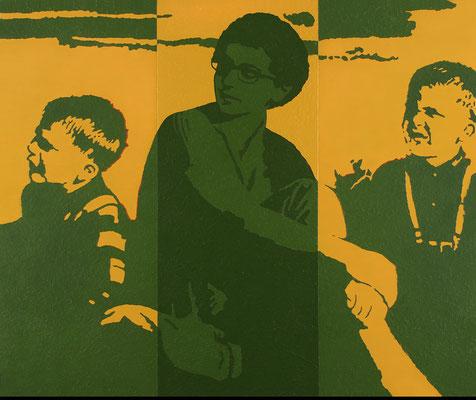 """absence 27 (Familie)""  Öl auf Baumwolle  100 cm x 120 cm  2013"