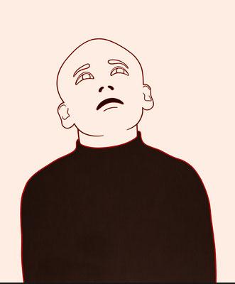 """trans figures: """"Person 4""""   Öl auf Baumwolle mit Acryl und Kohle   120 cm x 100 cm   2002/6"""