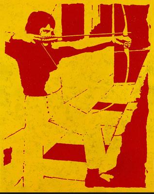 """""""absence 28 (Familie)""""  Öl/Acryl auf Baumwolle  100 cm x 80 cm  2013"""