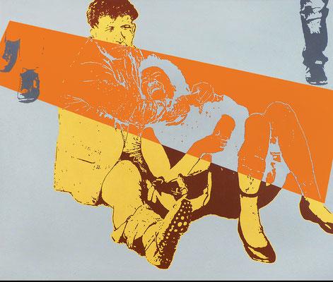 """absence 53 (Violence)"" Öl auf Baumwolle 110 cm x 130 cm 2018"