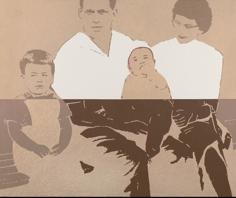 """absence 18 (Familie)""  Öl auf Baumwolle  100 cm x 120 cm  2012/18"