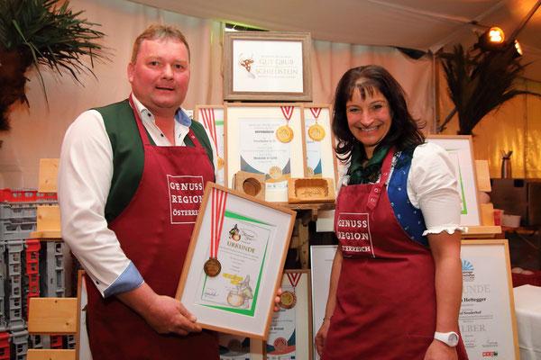 Auszeichnungen der Bauern der GenussRegion Großarltaler Bergbauernkäse  2018