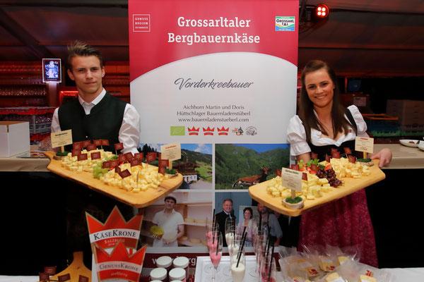 Produkte vom Vorderkreebauern bei der Wein- und Genuss-Gala 2019