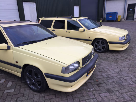 Cream Yellow Volvo 850 T-5R