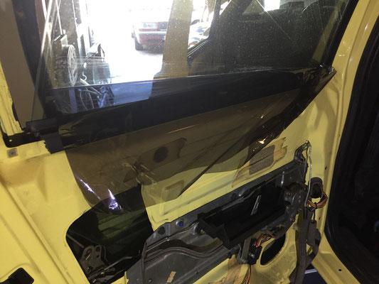 Folie van de ramen verwijderen
