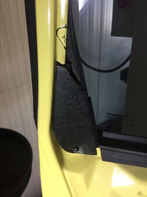 Raamgeleider beschadigt