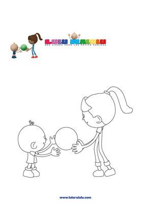 Lulu et Valentina jouent à la balle