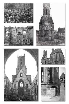 Kirche, Zerstörung durch eine Brandbombe