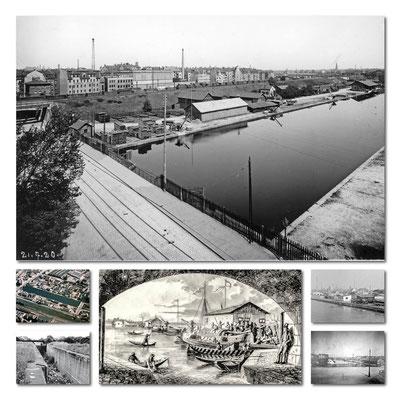 Alter Kanalhafen, große Aufnahme ca 1920