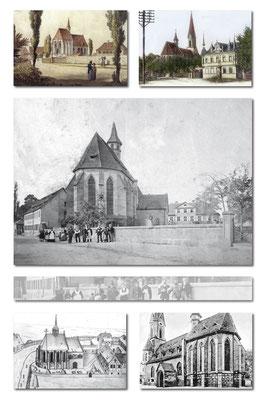 Kirche, historische Ansichten, erste Fotografie ca 1889