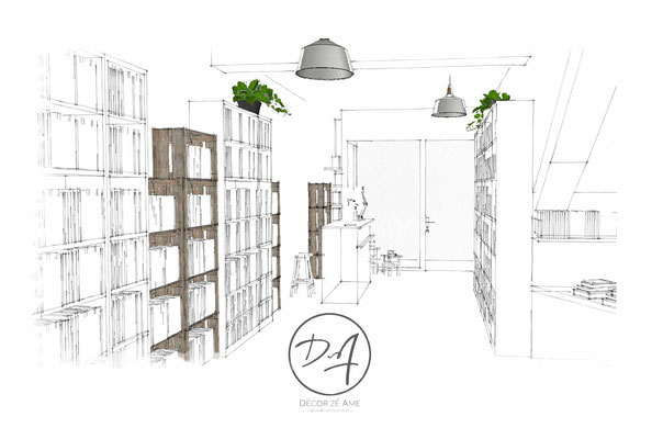 Projet 3D librairie Montpellier