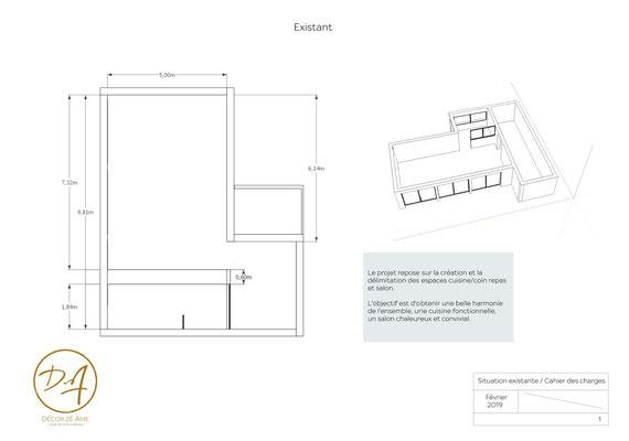 Plan 2D 3D cuisine