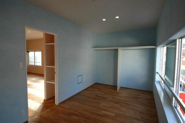 青色粉 漆喰左官壁
