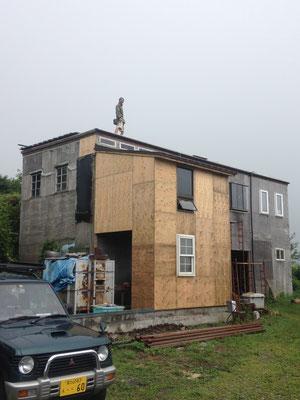 陶芸工房と納戸の増築